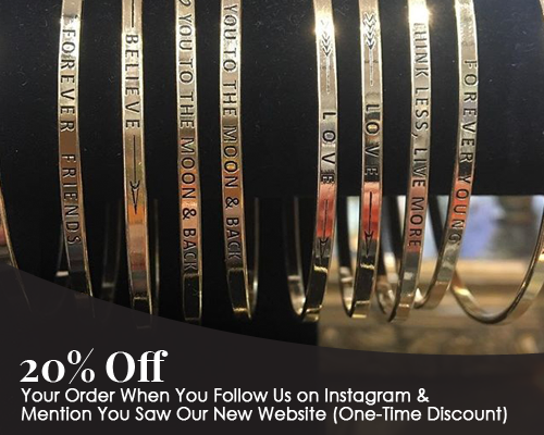 20% Off - Your Order When You Follow Us on Instagram & Mention You Saw Our New Website (One-Time Discount)